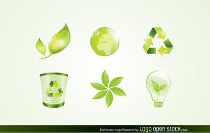 Elementos de Logo Eco Vector