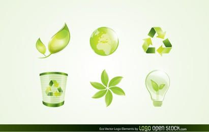 Elementos do logotipo de vetor de eco