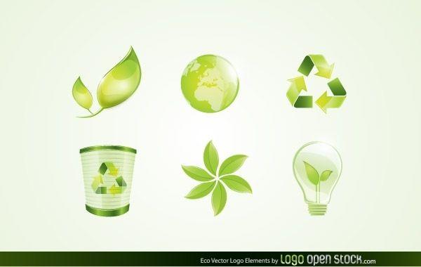 Elementos del logotipo de Eco Vector
