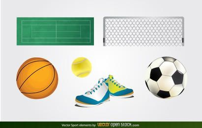 Elementos deportivos vectoriales
