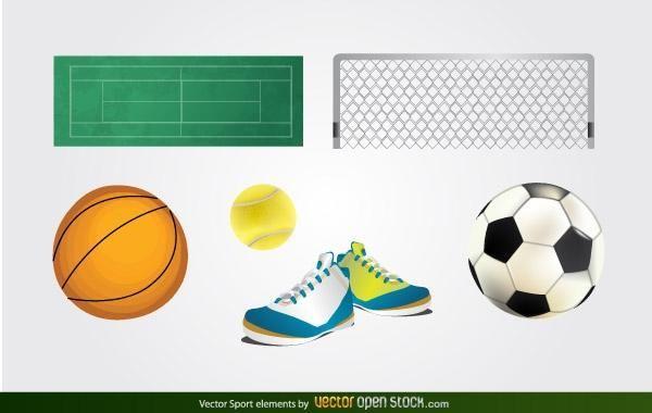 Vector deporte elementos