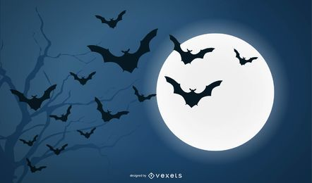 Bats and Full Moon