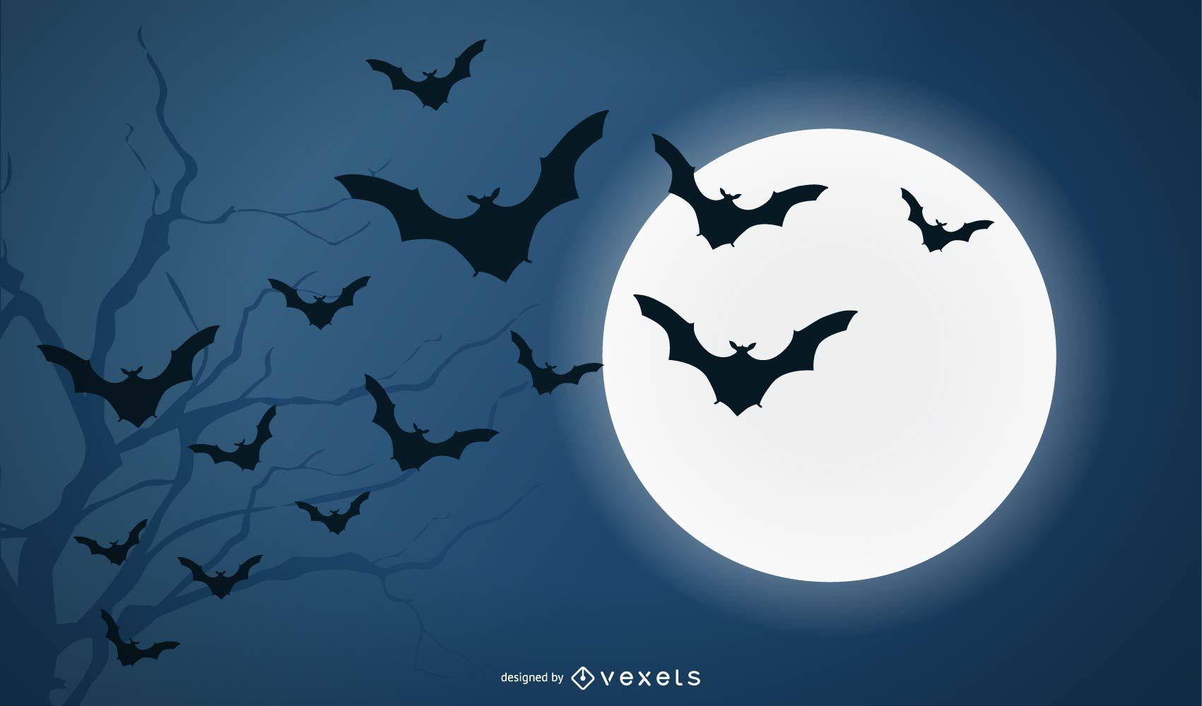 Bats and Full Moon