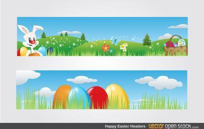 Encabezados de Pascua feliz