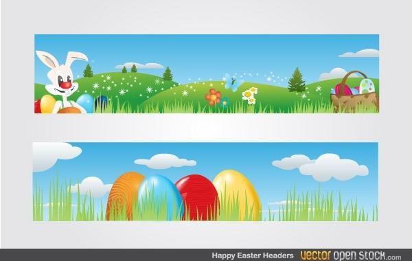 Happy Easter Headers