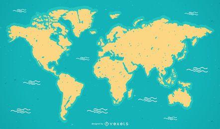 Vetor de mapa do mundo