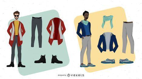 Arte vectorial de moda masculina