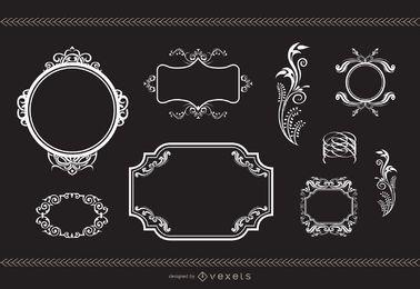 Heraldik und Flourish Frames