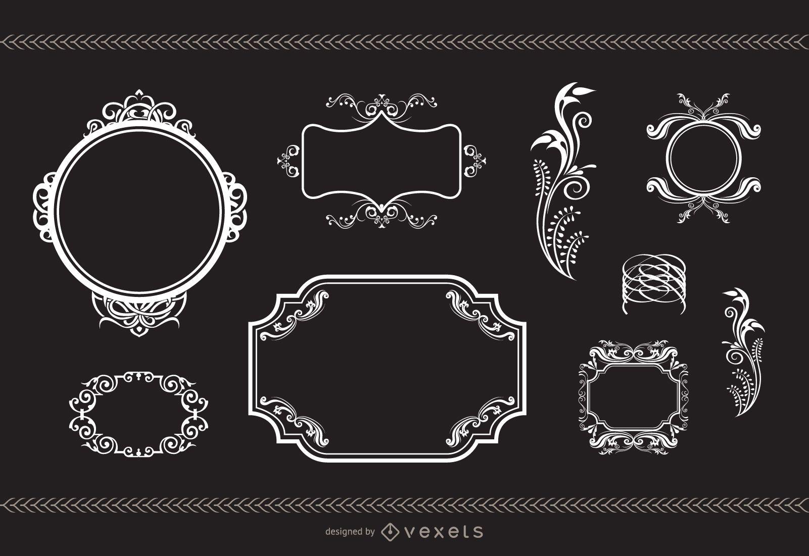Heraldry and Flourish Frames