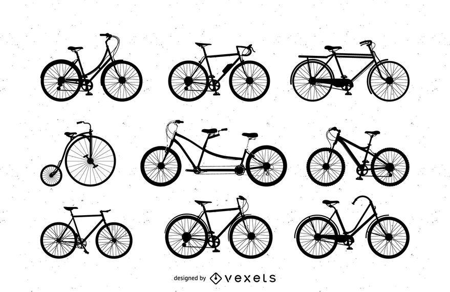 Arte vetorial: Bicicletas