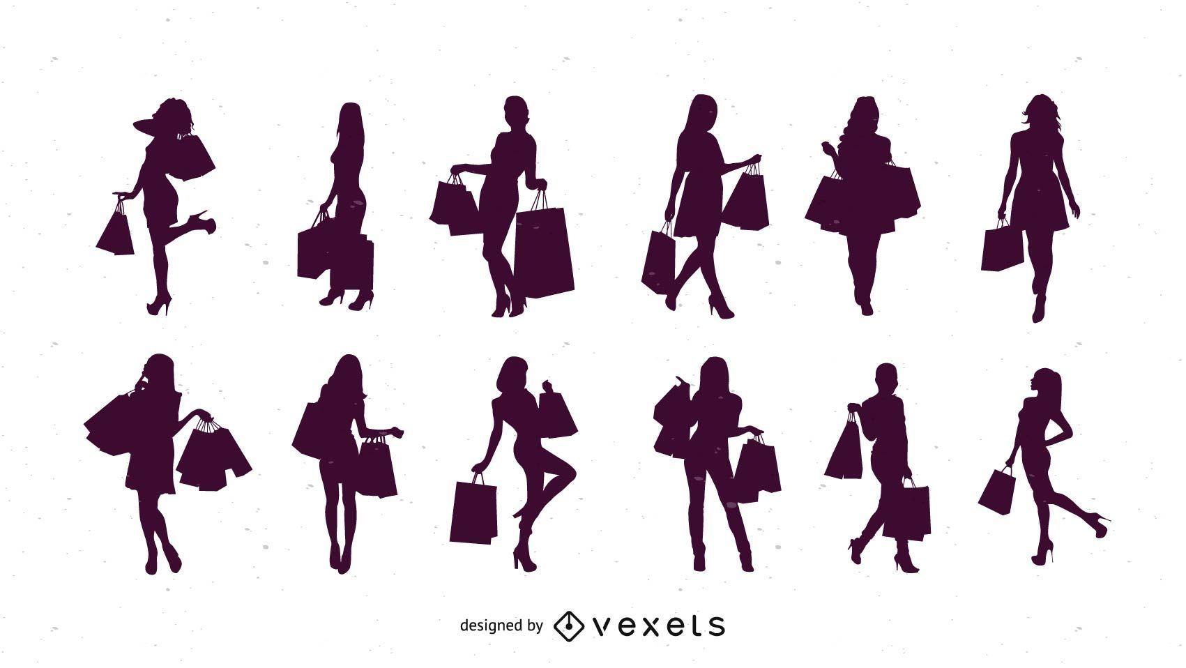 Silueta compras mujeres