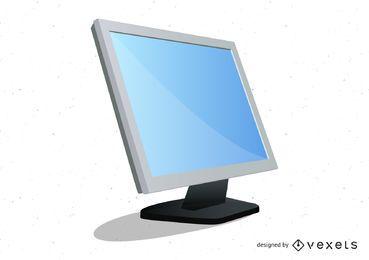 Monitor de escritorio realista vector