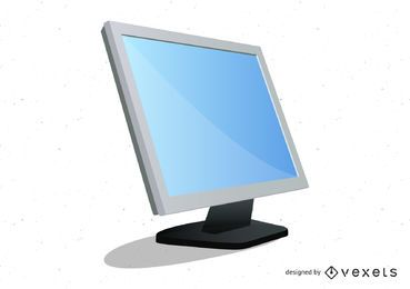 Realistic desktop Monitor Vector