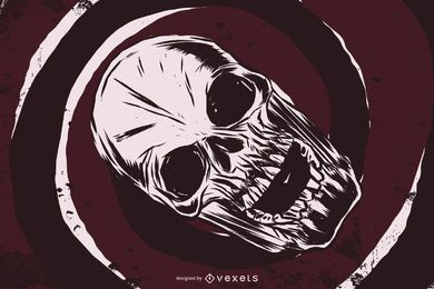 Twisted Skull Vector Art