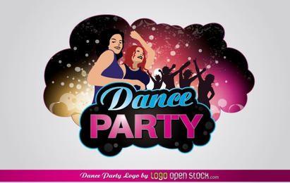Logotipo da festa de dança