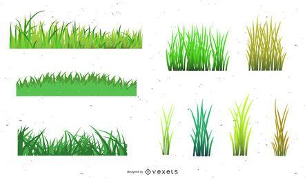 Vector estilos de hierba