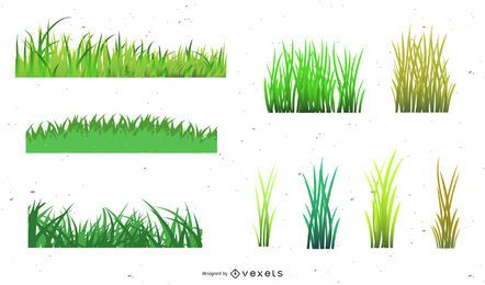 Vektor-Gras-Stile