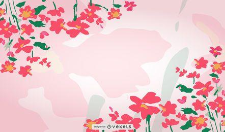 Spring Floral Background Design