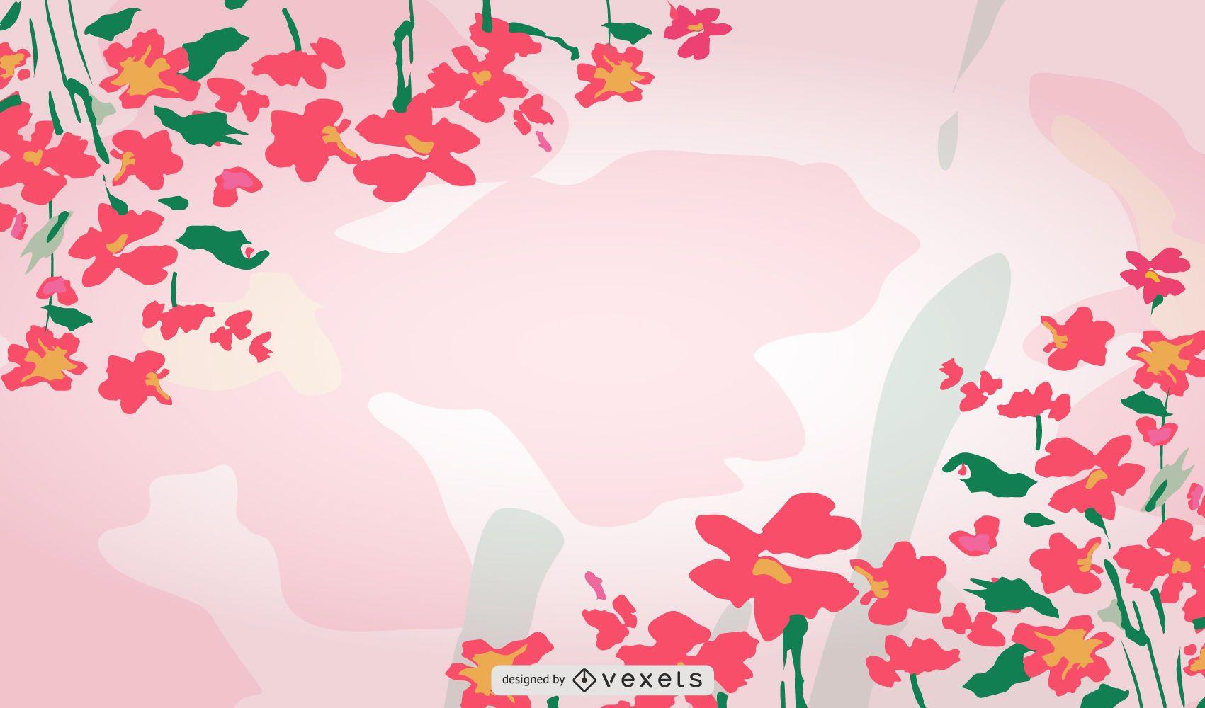 Diseño de fondo floral de primavera