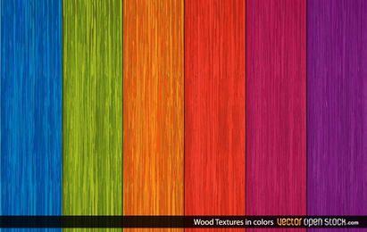 Texturas de madeira em cores