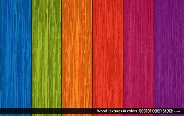 Wood Textures in Colors