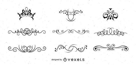 Remolinos vectoriales ornamentados