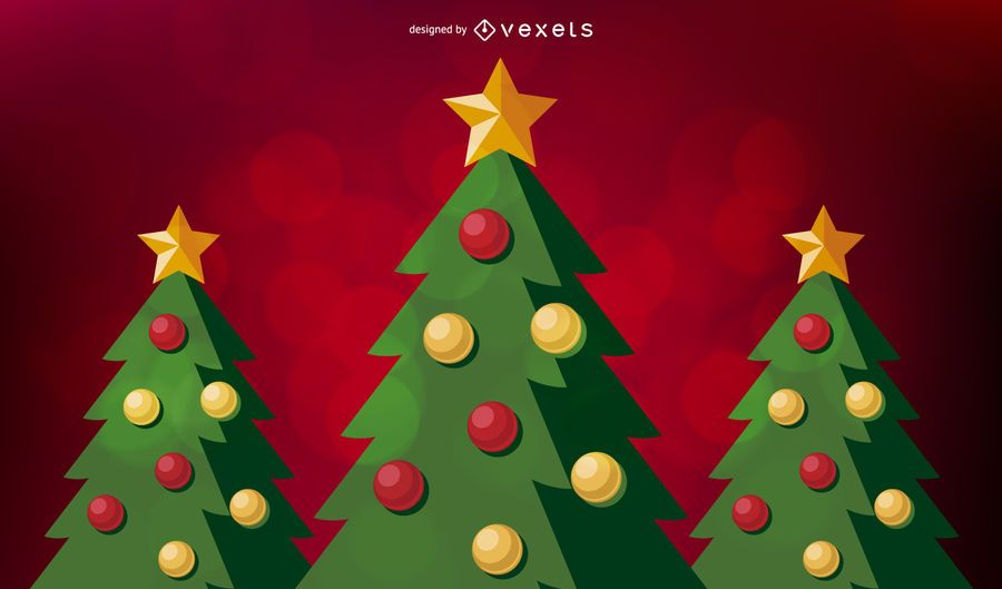 Fundo de árvore de Natal vermelho