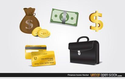 Ícones de finanças