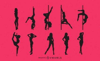 Dançarinos de silhueta Striptease