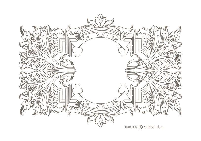 Ornamento del vector heráldica
