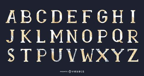 13 Abstract Vector Typeface: McDonald