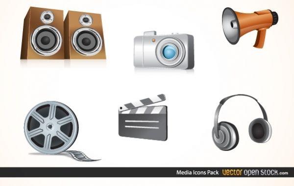Paquete de iconos de medios