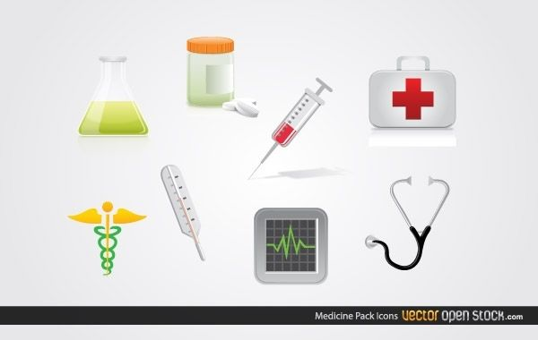 Paquete de iconos de medicina