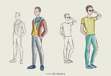 Diseño de moda de los hombres