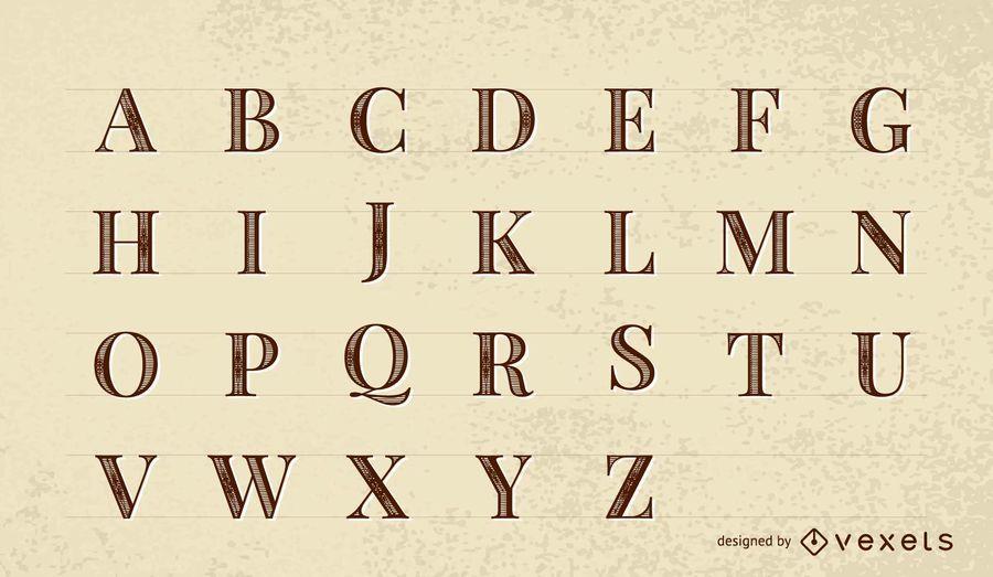 Vector Font: Roman Print