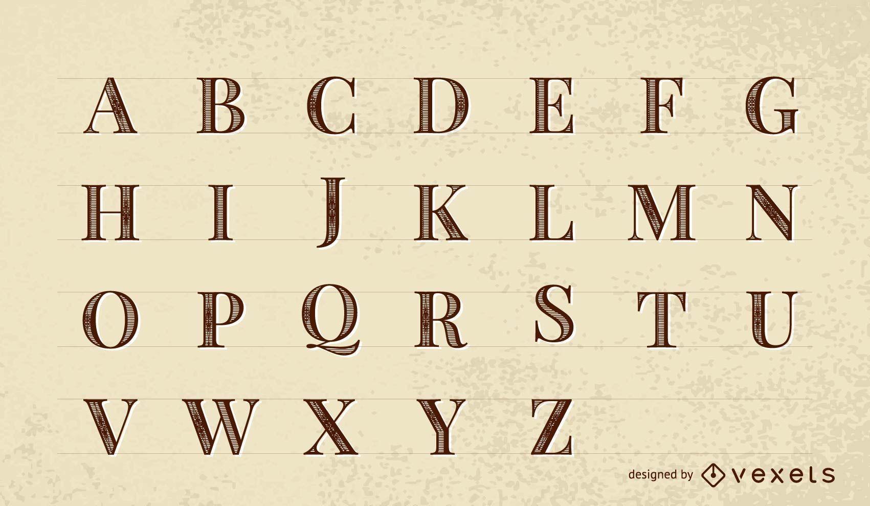 Fuente vectorial: Roman Print