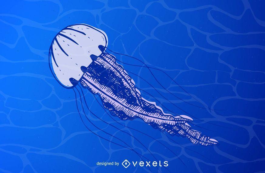 Vector de medusas