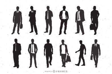 Silhueta moda homens