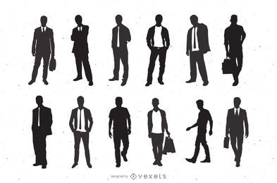 Silueta De Hombres De Moda