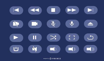 Botões de interface do usuário de vetor