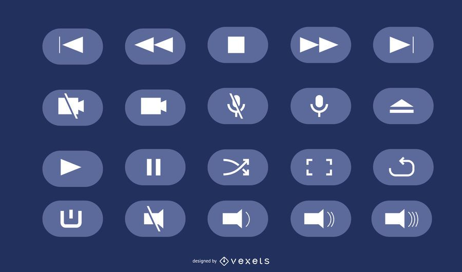 Vector UI buttons