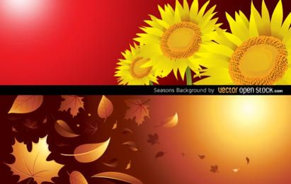 Fundo de temporadas (outono e verão)