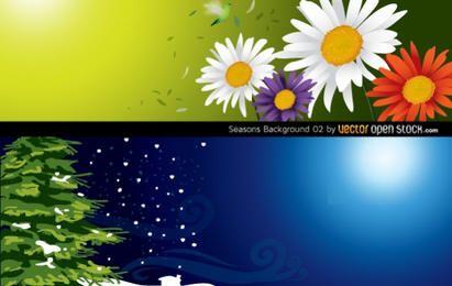 Fondo de estaciones (primavera e invierno)