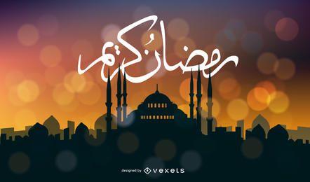 Cartão de Ramadan Kareem de vetor