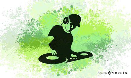 Elektrische Farben DJ Design
