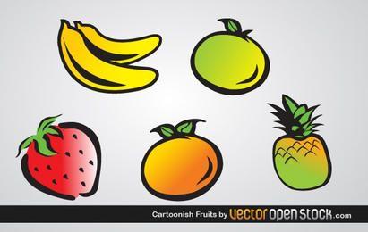Frutas com desenhos animados