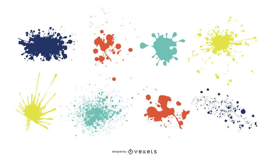 Super verrückte Splatter-Vektoren