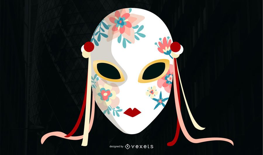 Asian Mask Illustrations