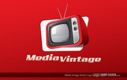 Mídia Vintage Vector