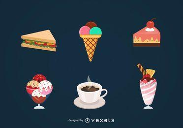 Conjunto de vectores de alimentos